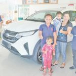 Perodua's Aruz is crowd-puller at its Mukah showroom