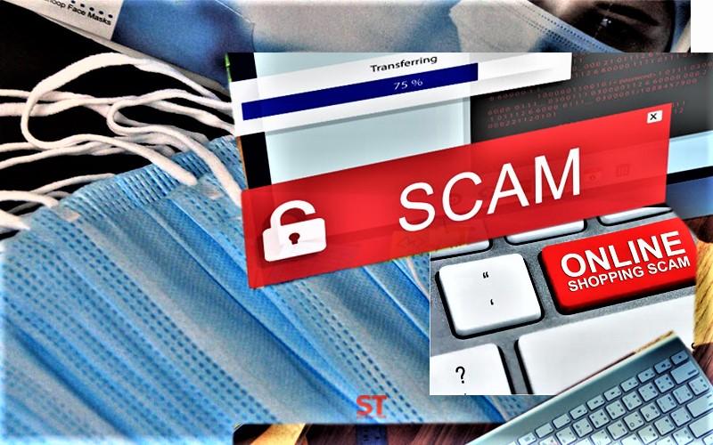 online face mask scam