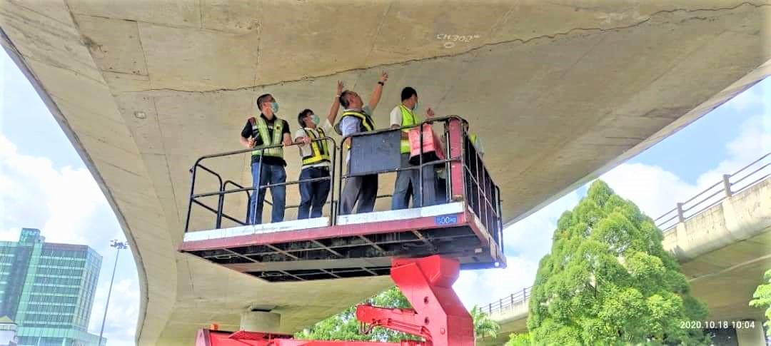 No structural crack underneath Kenyalang flyover