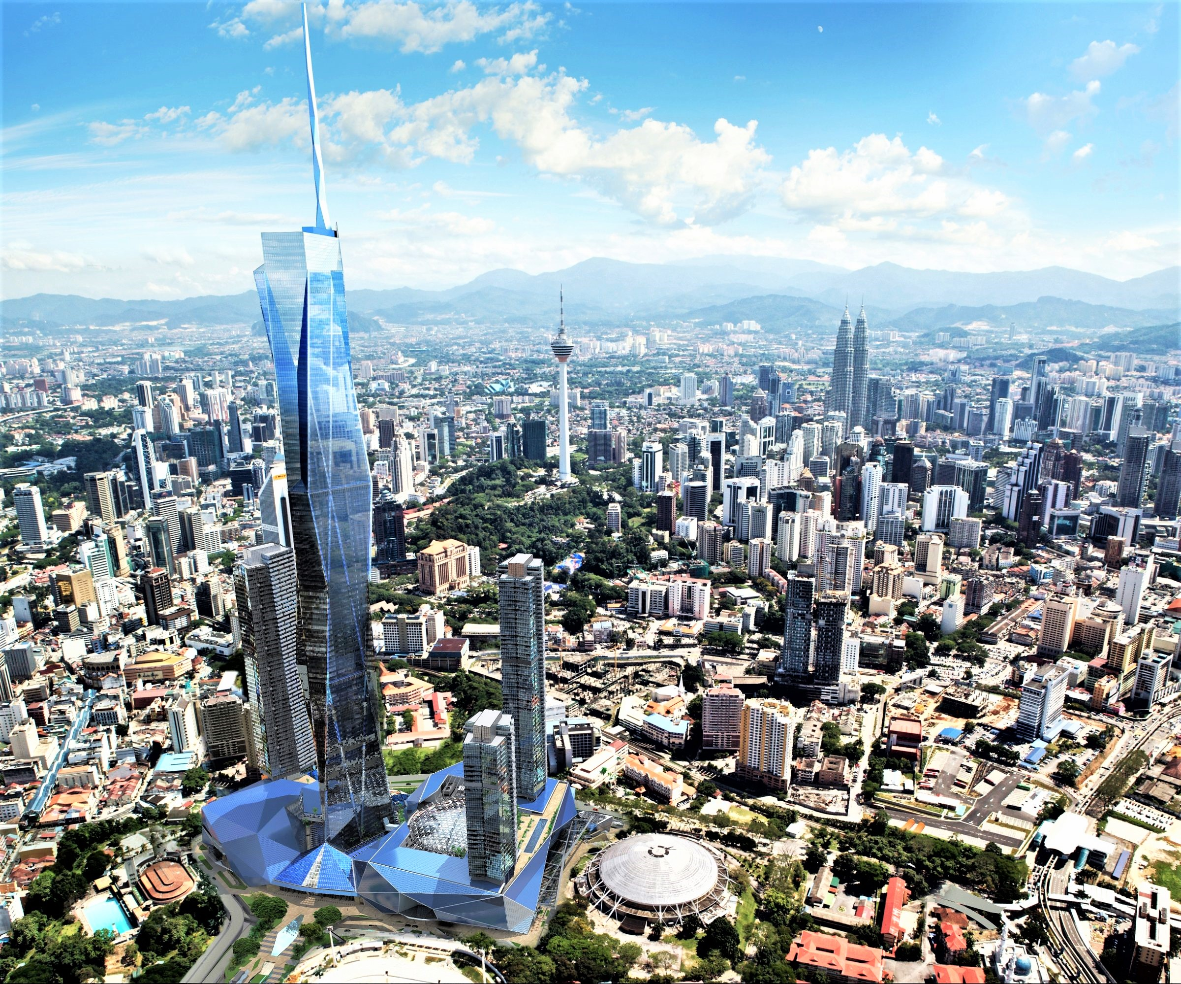 World's second tallest tower back on track